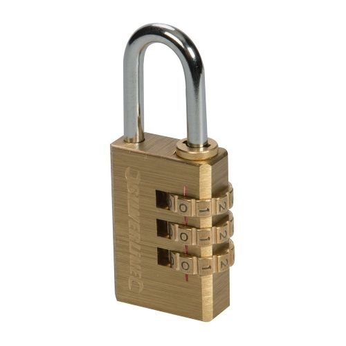 Silverline 744867 Brass Combination Padlock 3 Digit